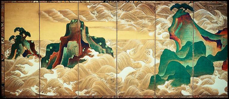[Waves at Matsushima, Matsushima zu byobu]