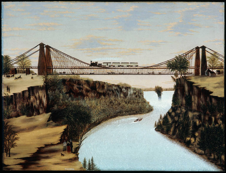 The Railroad Suspension Bridge near Niagara Falls