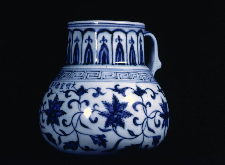 Tankard with floral design