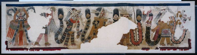 Cloth with Procession of Figures