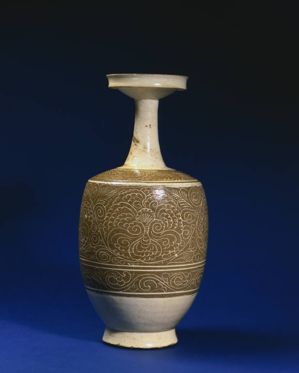 Vase with Composite Floral Scroll: Cizhou Ware