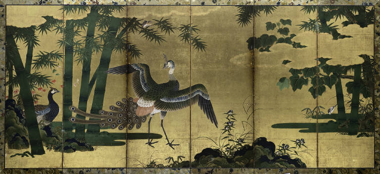 Peacock and Bamboo
