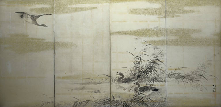 Geese, Reeds and Water
