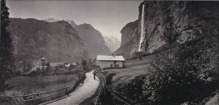 [Valley of Lauterbrunnen, Switzerland (from the album Charbons de Braun- vues prises avec l'objectif panoramique mobile, 1868), Vallée de Lauterbrunnen]
