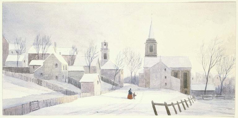 Street in Winter, Richmond, Indiana