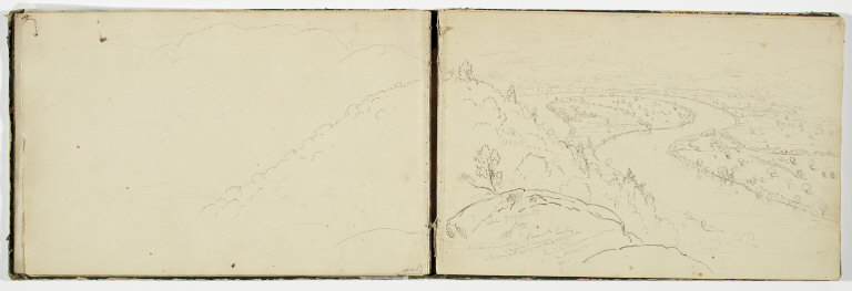 (Untitled, inside page of cover for sketchbook)
