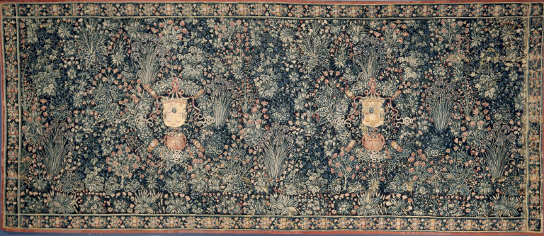 Millefleurs Tapestry with Medici Coat of Arms