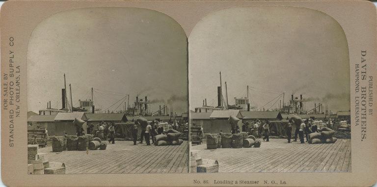Loading a steamer