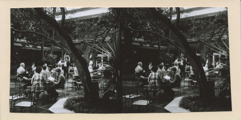 Breakfast at Brennan's courtyard