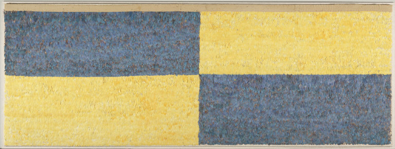 Blue and Yellow Feathered Panel
