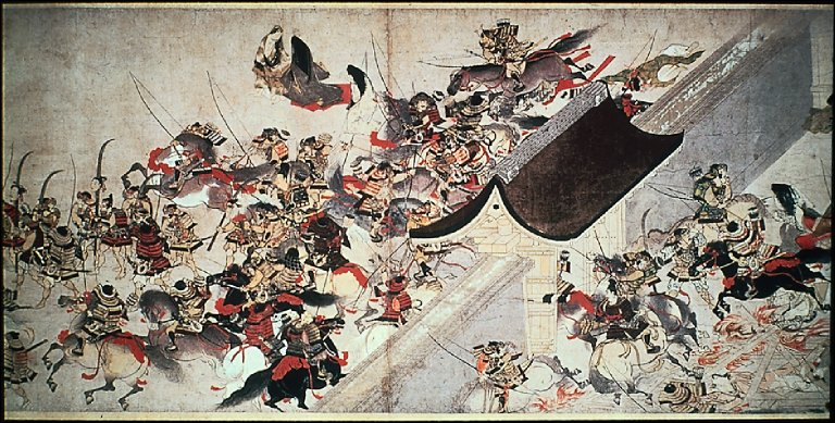 Night Attack on the Sanjo Palace, from the Illustrated Scrolls of the Ev