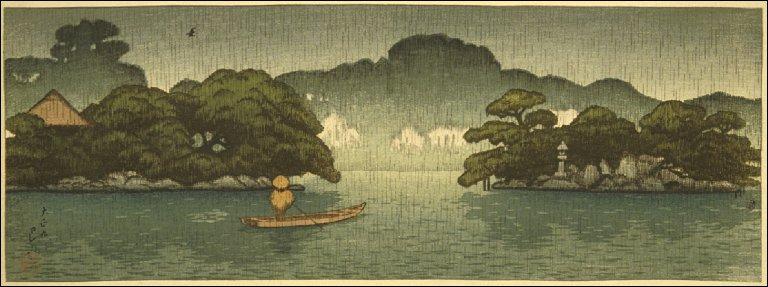 A Small Boat in the Spring Rain