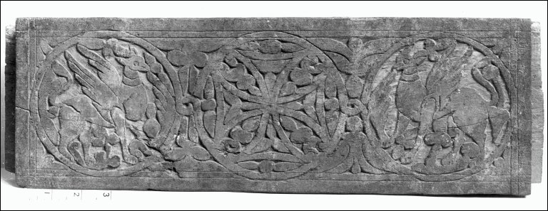 Panel with Cross and Griffins