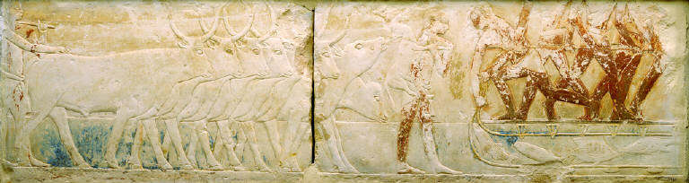Relief of Peasants Driving Cattle and Fishing