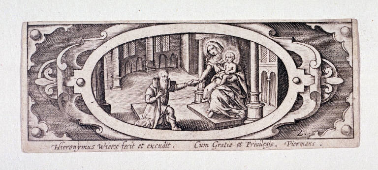 Miniature plate of Life of the Virgin (Plate 2)