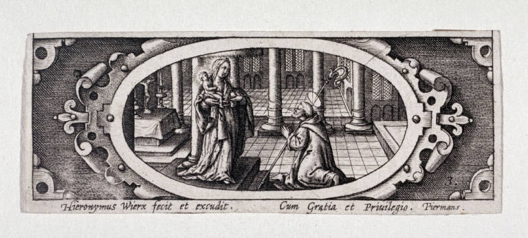 Miniature plate of Life of the Virgin (Plate 3)