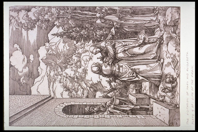 The Visitation, ninth plate from the series The Life of the Virgin