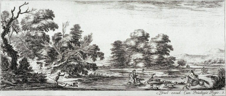 A Deer Hunt, from the series Divers Paysages