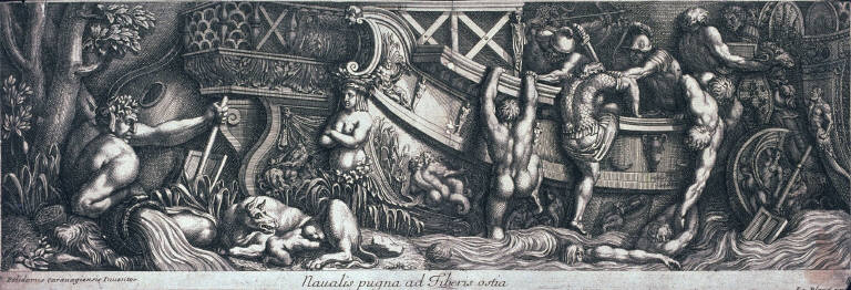 Naval Battle in the Tiber at Ostia, after Polidoro da Caravaggio