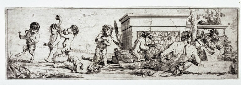 Satyr Children Singing and Dancing