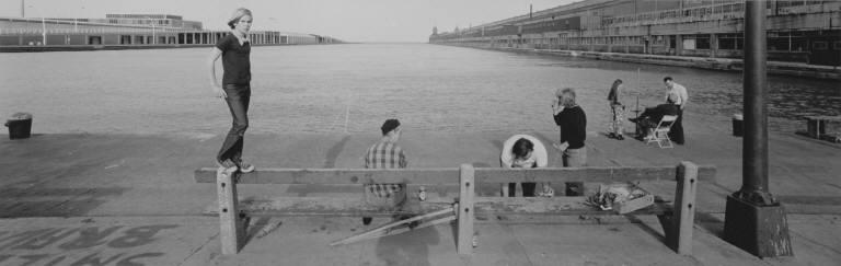 Smelt Fishing, Navy pier, Chicago, 1975