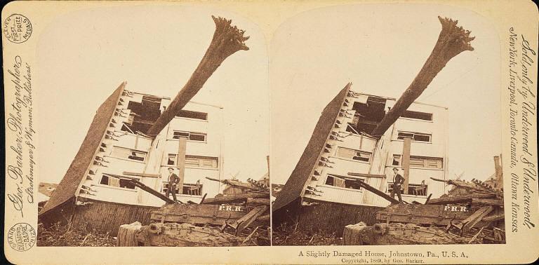 A Slightly Damaged House, Johnstown, Pa., U.S.A.