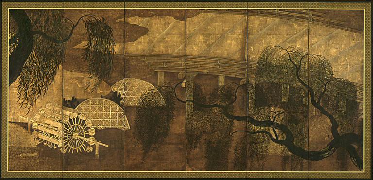 Yanagi-bashi or Willow Bridge on the Uji River
