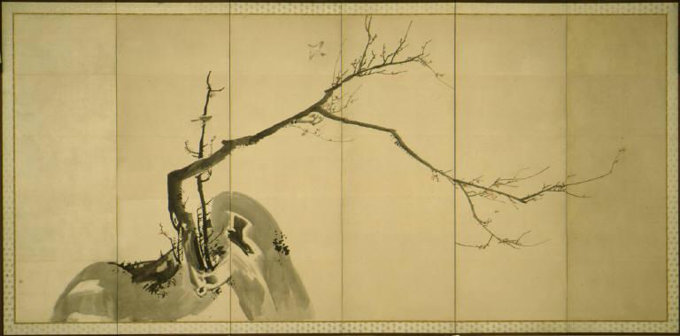 Plum Trees (One of Pair)