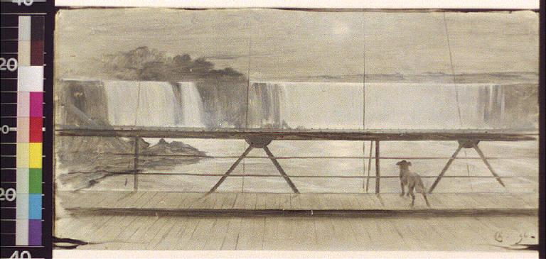 The falls from Suspension Bridge