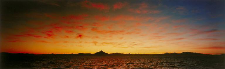 Sunrise over Horno Corcovada, Golfo de Corcovada, Southern Chile