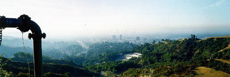 Mulholland at the Hollywood Overlook, August 28, 1992