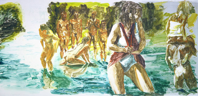 Untitled (Group in Water)