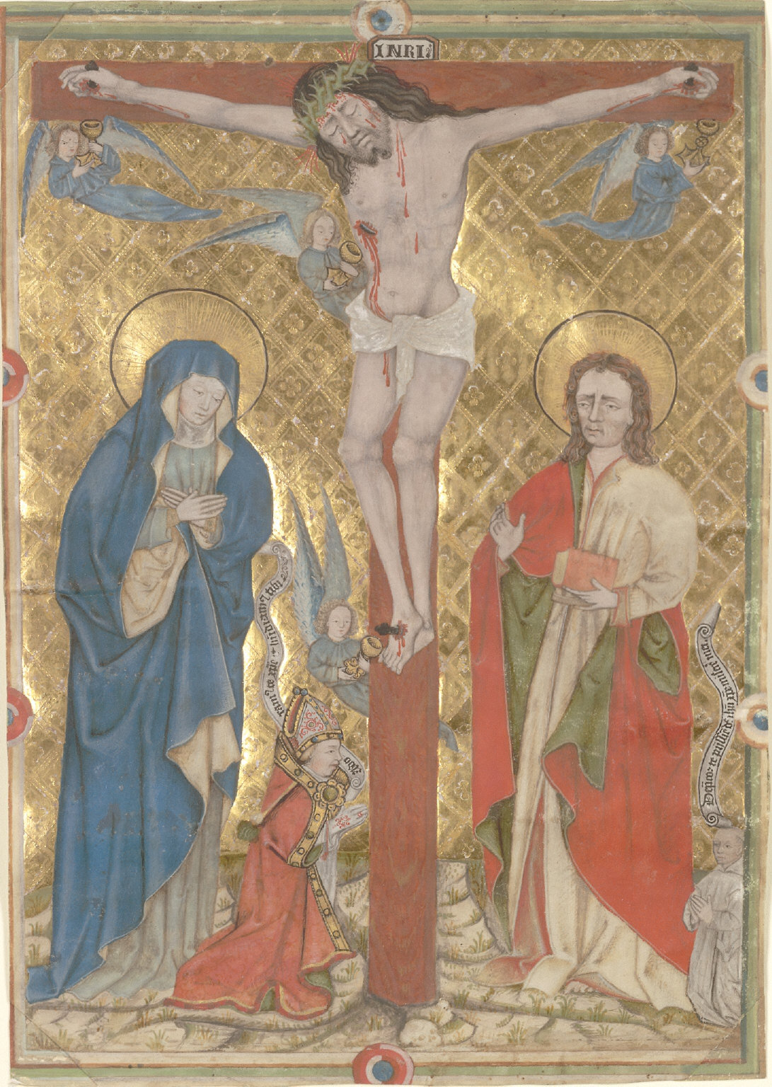 Single Leaf from a Missal: The Crucifixion
