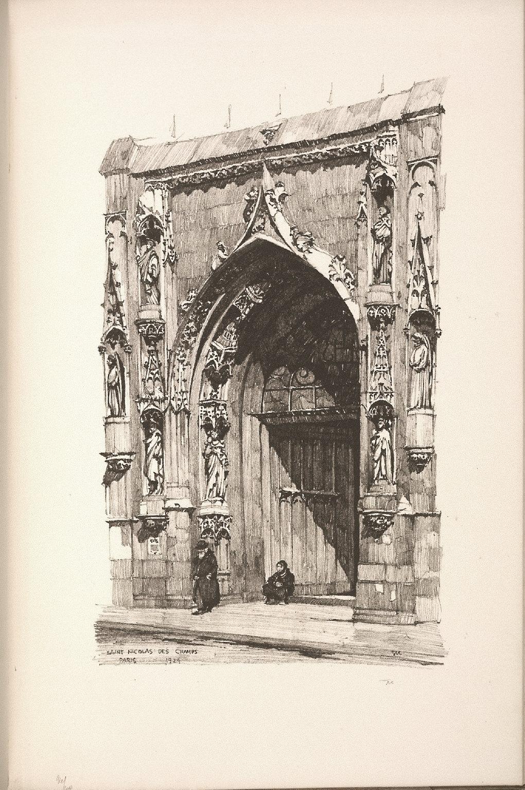 Twenty Lithographs of Old Paris: Saint Nicolas-des-Champs, Paris