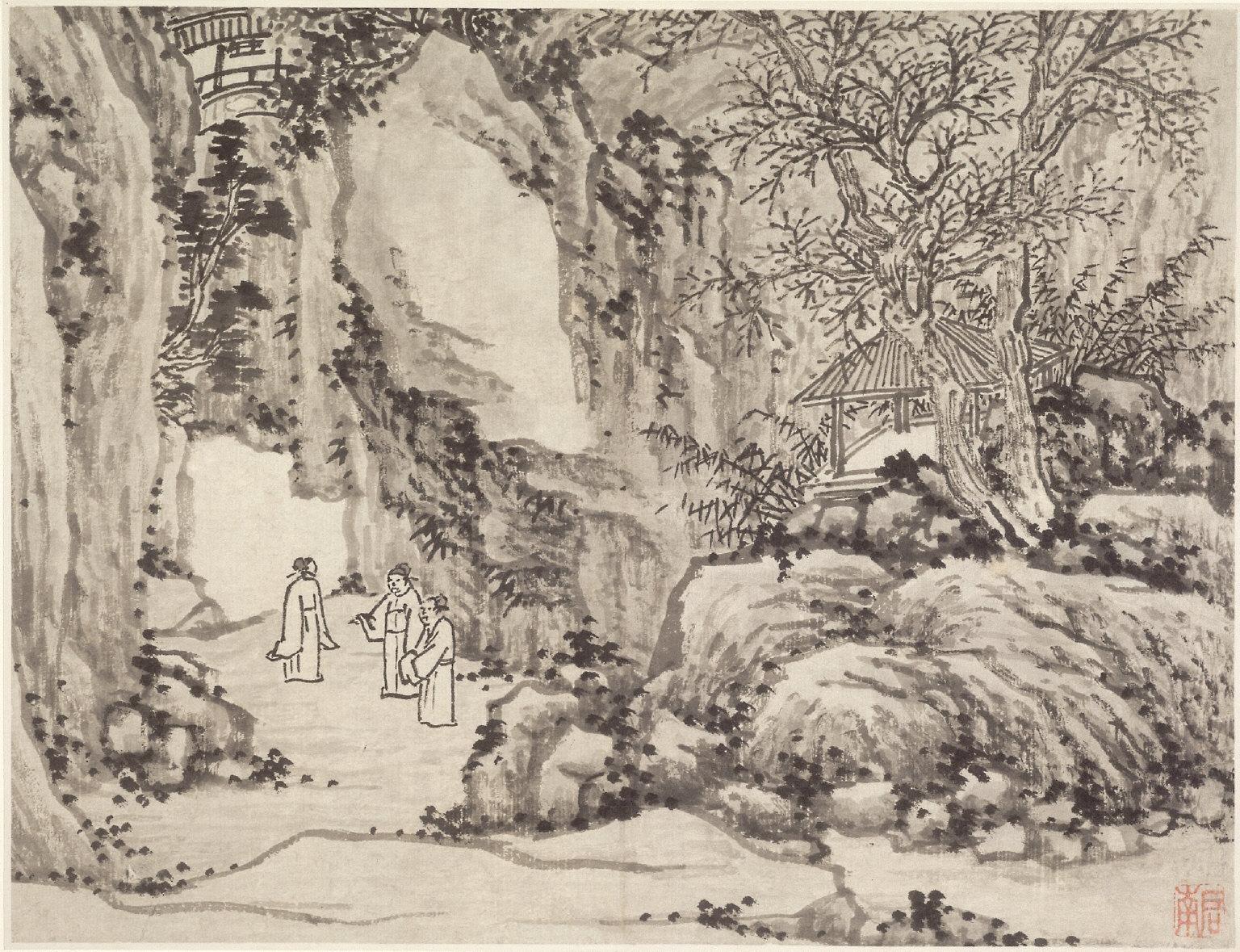 Twelve Views of Tiger Hill, Suchou: The Sword Spring, Tiger Hill