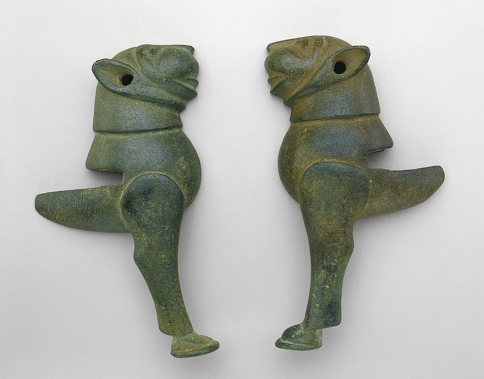 Pair of Supports in Form of Lion Protomes