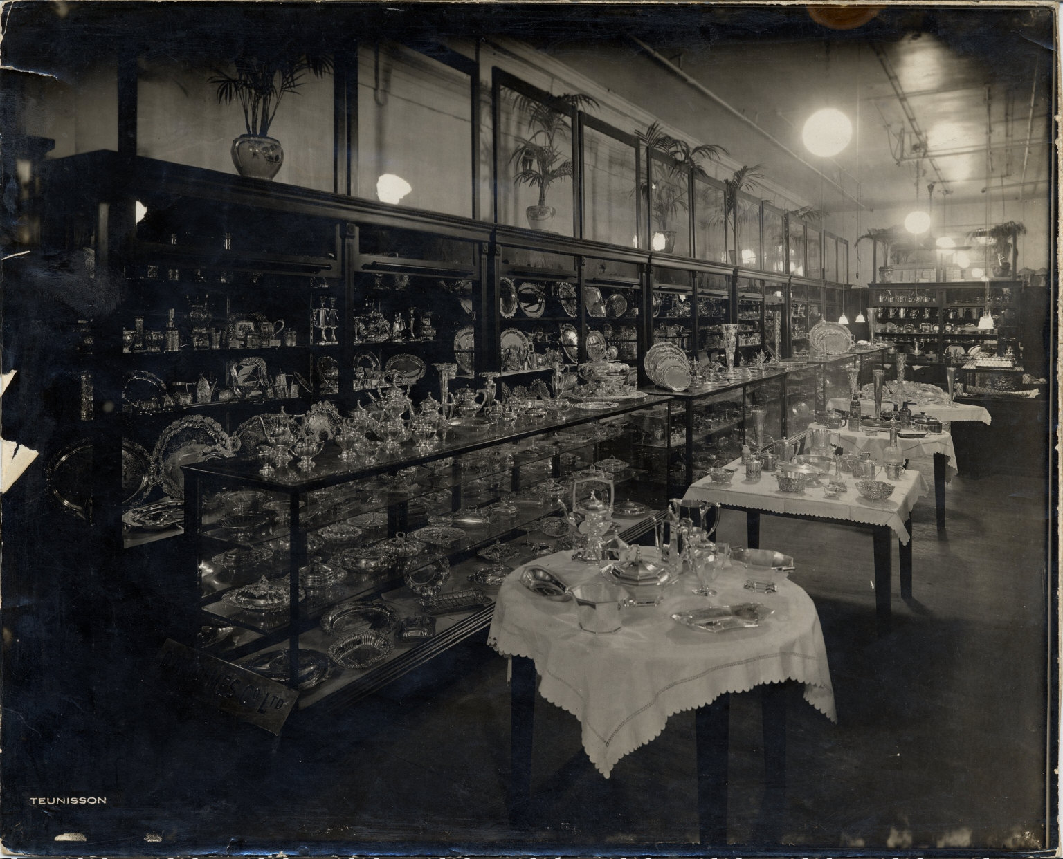 Glass and silverware display