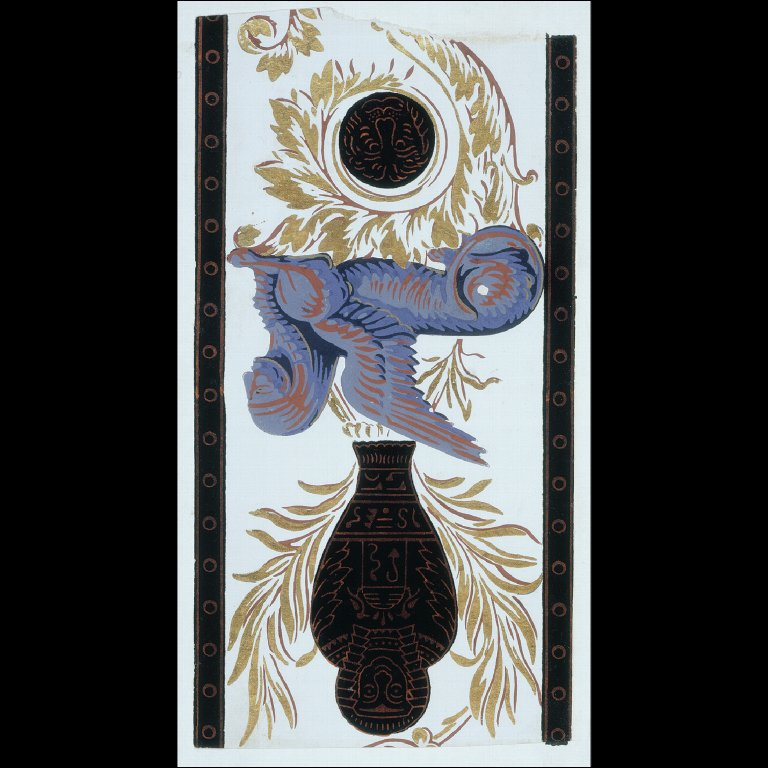 WALLPAPER BORDER with Egyptian motifs