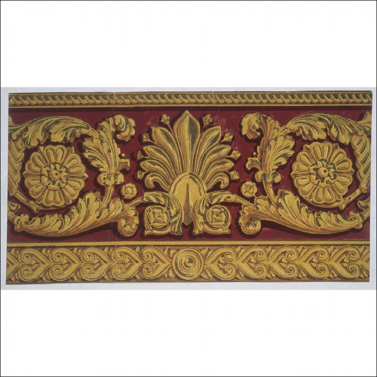 WALLPAPER BORDER of palmette and acanthus