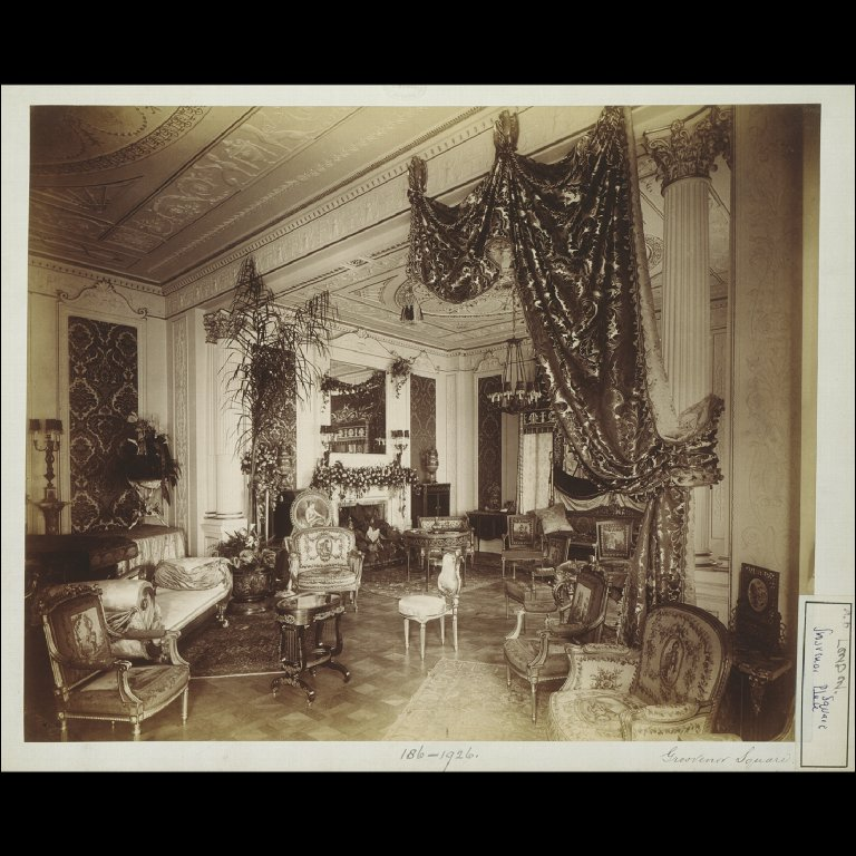 PHOTOGRAPH of a drawing room in Grosvenor Square