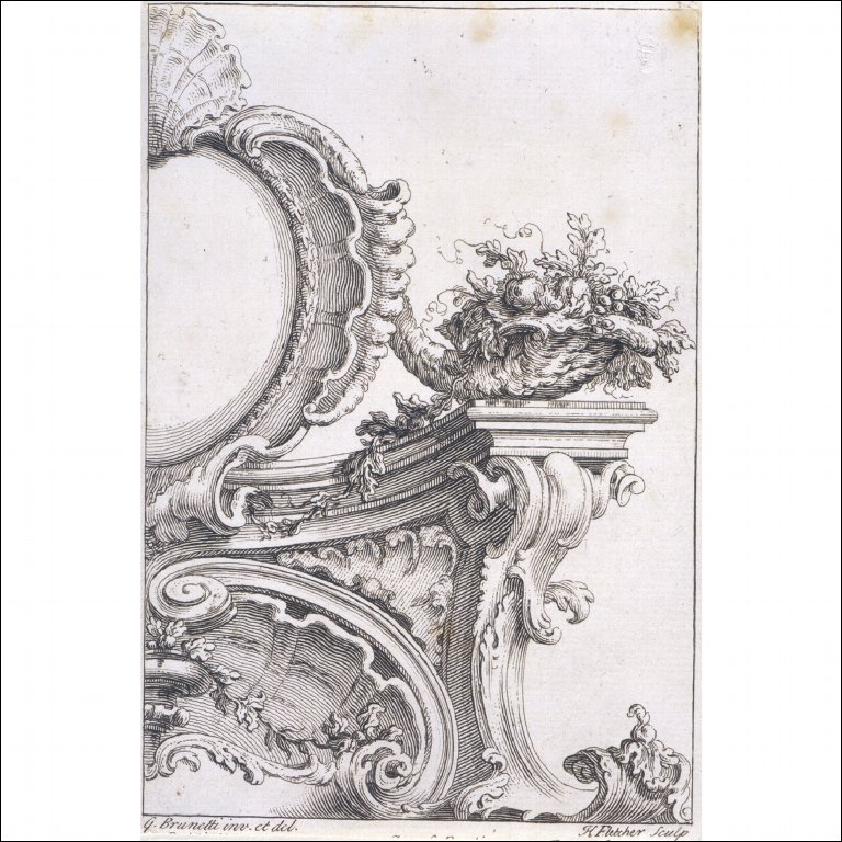 ETCHING Design for a cartouche