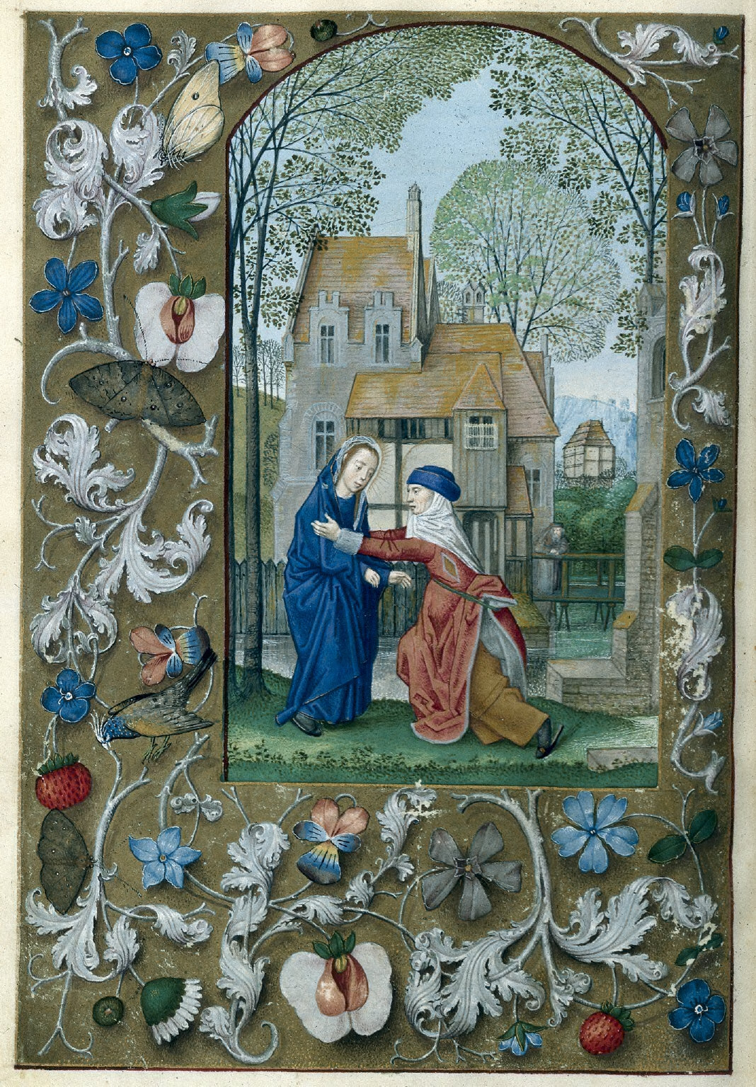 Hours of Queen Isabella the Catholic, Queen of Spain: Visitation, fol. 115 (verso)
