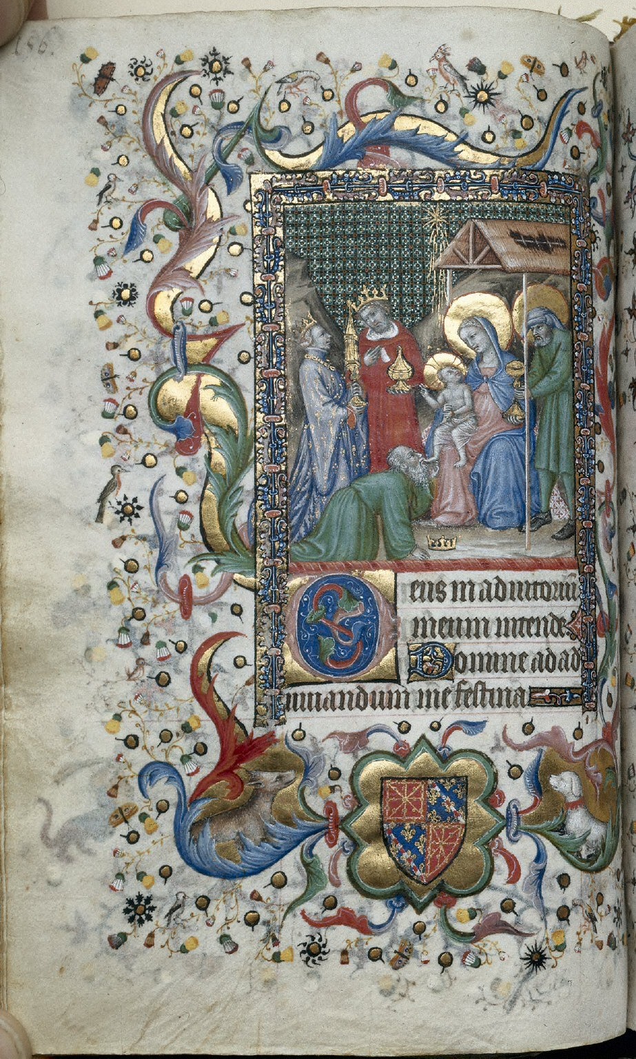 Hours of Charles the Noble, King of Navarre (1361-1425): Adoration of the Magi (Sext), fol. 78 (verso)