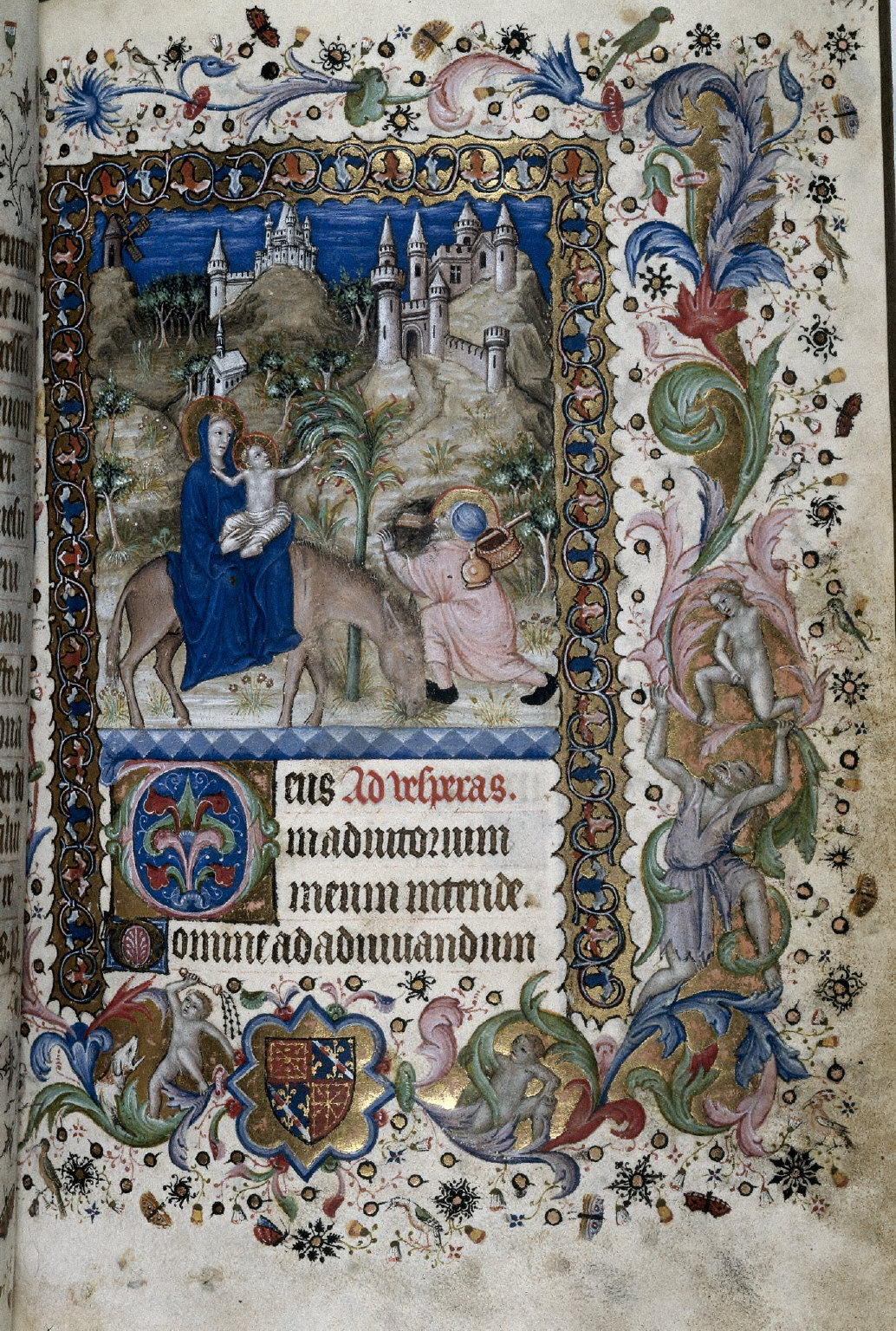 Hours of Charles the Noble, King of Navarre (1361-1425): Flight into Egypt (Vespers), fol. 88 (recto)