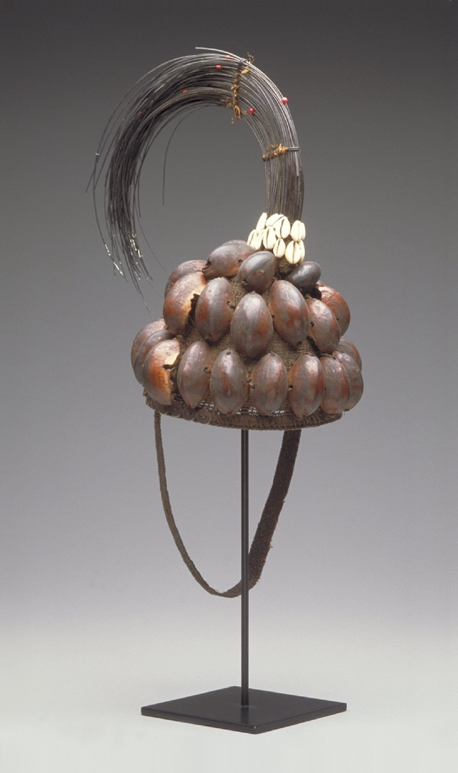 Hat with nut shells