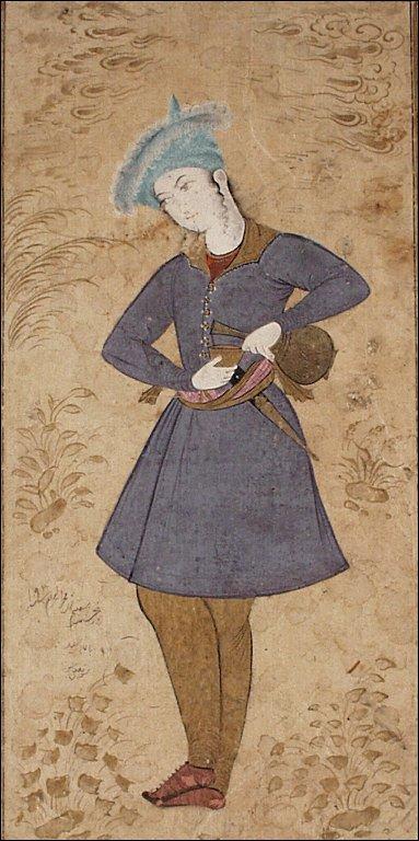 A Standing Youth Pouring Wine