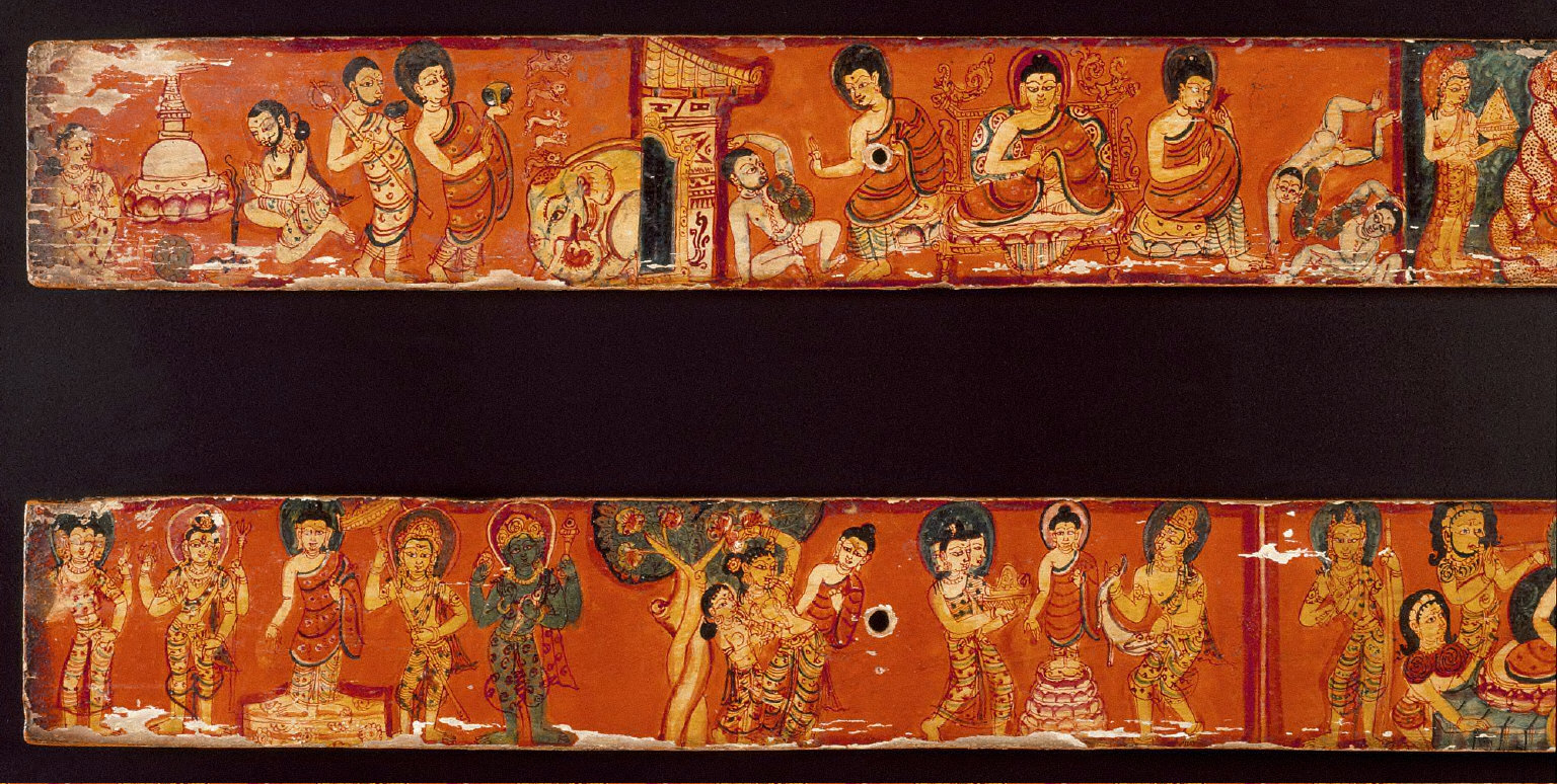 Scenes from the Life of Buddha Sakyamuni, Covers of an Ashtasahasrika Prajnaparamita (The Perfection of Wisdom in 8,000 Verses)