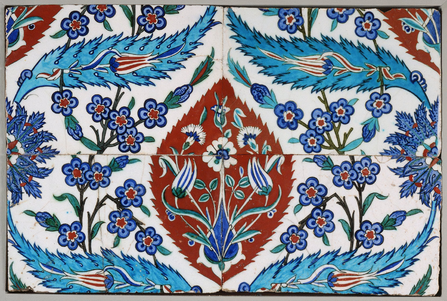 A Panel of Four Tiles