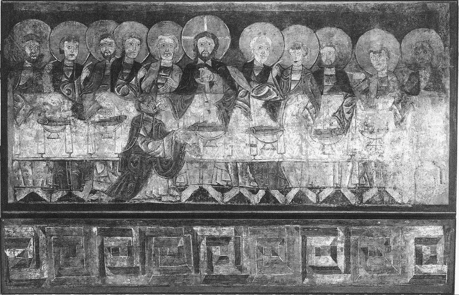 The Last Supper and Ribbon Meander Frieze (from the church of San Baudelio near Berlanga)