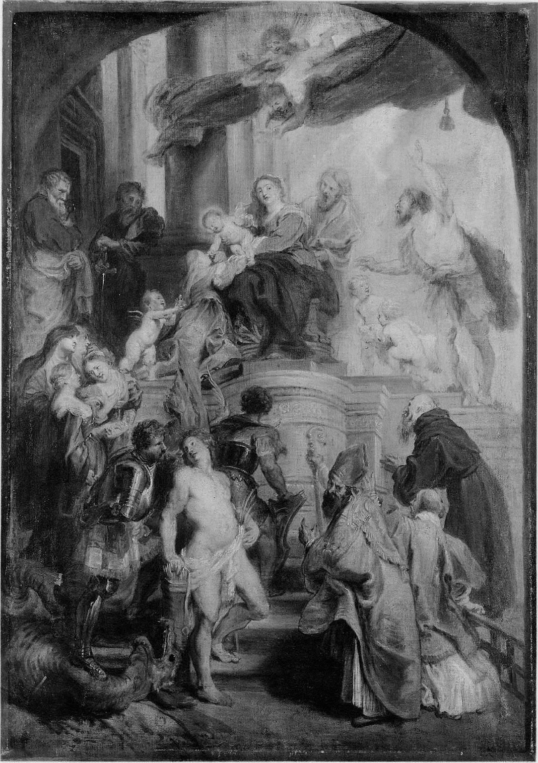 Virgin and Child Adored by Saints